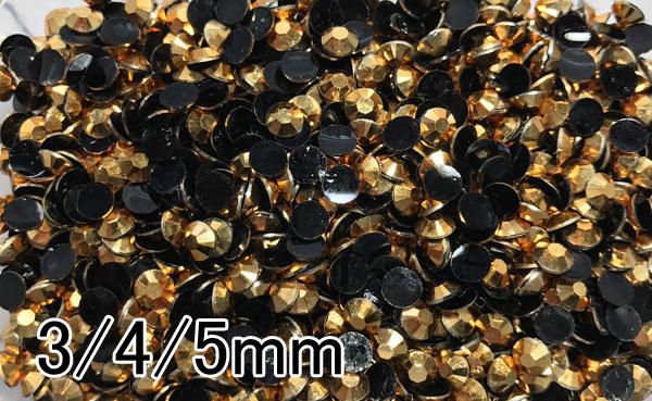 高分子結晶樹脂ストーン★ゴールド★2mm/3mm/4mm/5mm★1万粒~